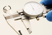 Measuring a Ring's Inside Diameter with Dial Calipers.