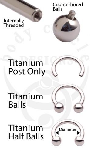Circular Barbells - Implant Grade Titanium