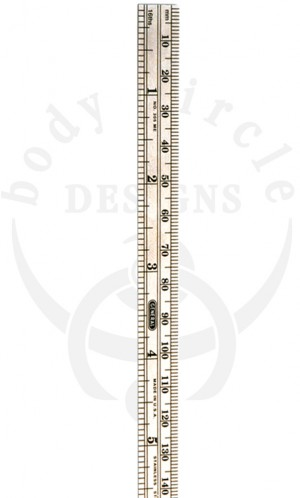 Stainless Steel Ruler - Inches and Millimeters
