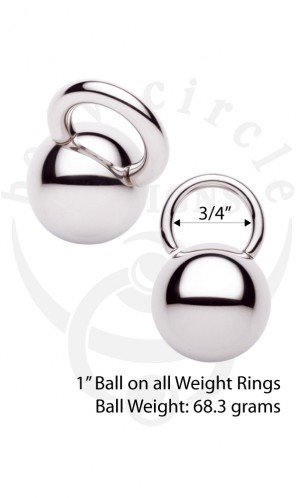 Weight Rings - 316LVM Stainless Steel - Large Gauge Jewelry