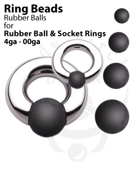 Replacement Rubber Balls for Rubber Ball and Socket Rings
