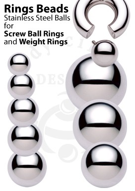 Replacement Balls for Screwball Rings and Weight Rings