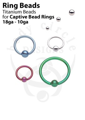 Replacement Beads for Rings - Titanium